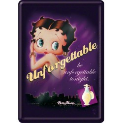 Placa metalica - Betty Boop - Unforgettable - 10x14 cm